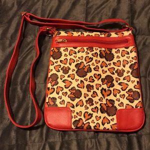"""Disney Parks Minnie Mouse """"Cheetah Print"""" Purse"""